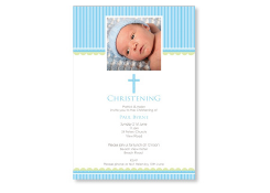 Boy Christening Invites