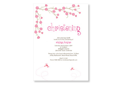 Girl Christening Invites