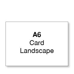 A6 Flat Landscape Card (single sided)
