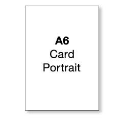 A6 Flat Portrait Card (single sided)