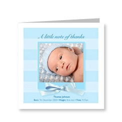 Baby Boy Bows Thank You Card