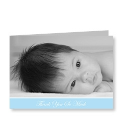 Blue Baby Photo Card