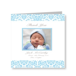 Baby Boy Vintage Thank You Card