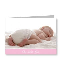 Pink Baby Photo Card
