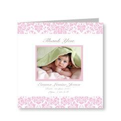 Baby Girl Thank You Vintage Cards