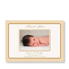 Classic Gold New Baby Card