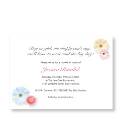 Dainty Flowers Invite for Baby Shower