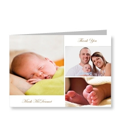 3 Picture Baby Photo Card