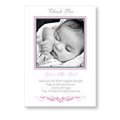 Stylish Pink Baby Girl Card