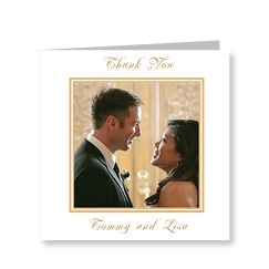 Classic Gold Personalised Wedding Card