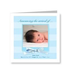 Baby Boy Bows Card