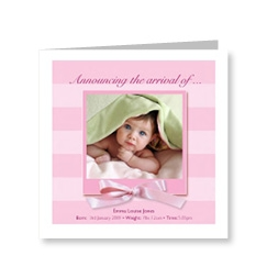 Baby Girl Bows Card