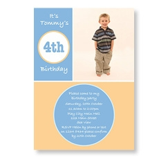 Birthday Boy Modern Circles Invite