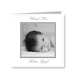 Classic Black and White Baby Thank You Cards