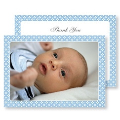 Blue Diamonds Thank You Card
