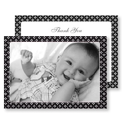 Black Diamonds Thank You Card