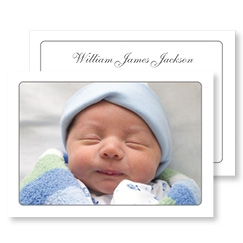 Plain White Photo Card for Baby