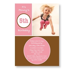 Birthday Girl Circles Invitation