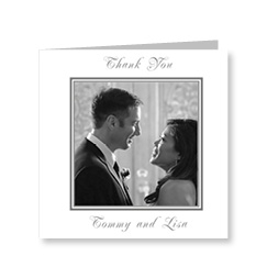 Classic Black and White Wedding Photo Cards