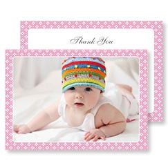 Pink Diamonds Thank You Card