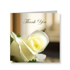 Rose Flower Thank You Note