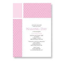 Classic Naming Day Ceremony Cards