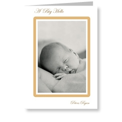 Golden Frame Baby Announcements for Boy or Girl