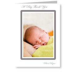 Charcoal Frame Baby Card