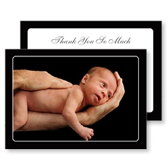 Plain Black Baby Cards