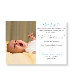 Baby Photo Card for Boy