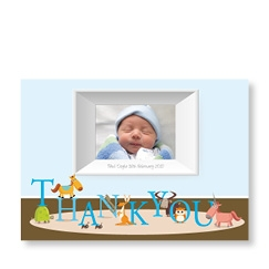 Thank You Framed Boy Baby Card