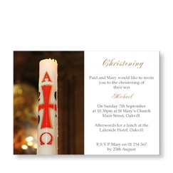 Traditional Christening Candle Invite
