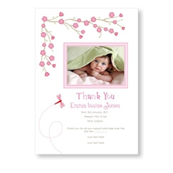 Baby Cards with Delicate Pink Blossom Flowers
