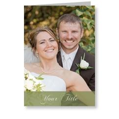Green Swish Wedding Cards
