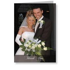 Swish Black Wedding Thank You Cards