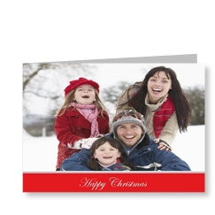 Photo Christmas Cards Red