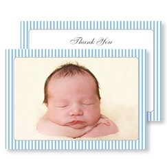 Blue Striped Baby Boy Cards