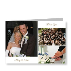 3 Picture Wedding Cards