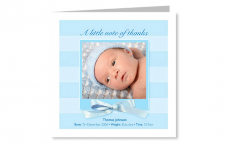 Baby Boy Thank You Cards | BabycardsNow.co.uk