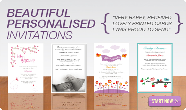 Baby Shower Invitations Personalised Online